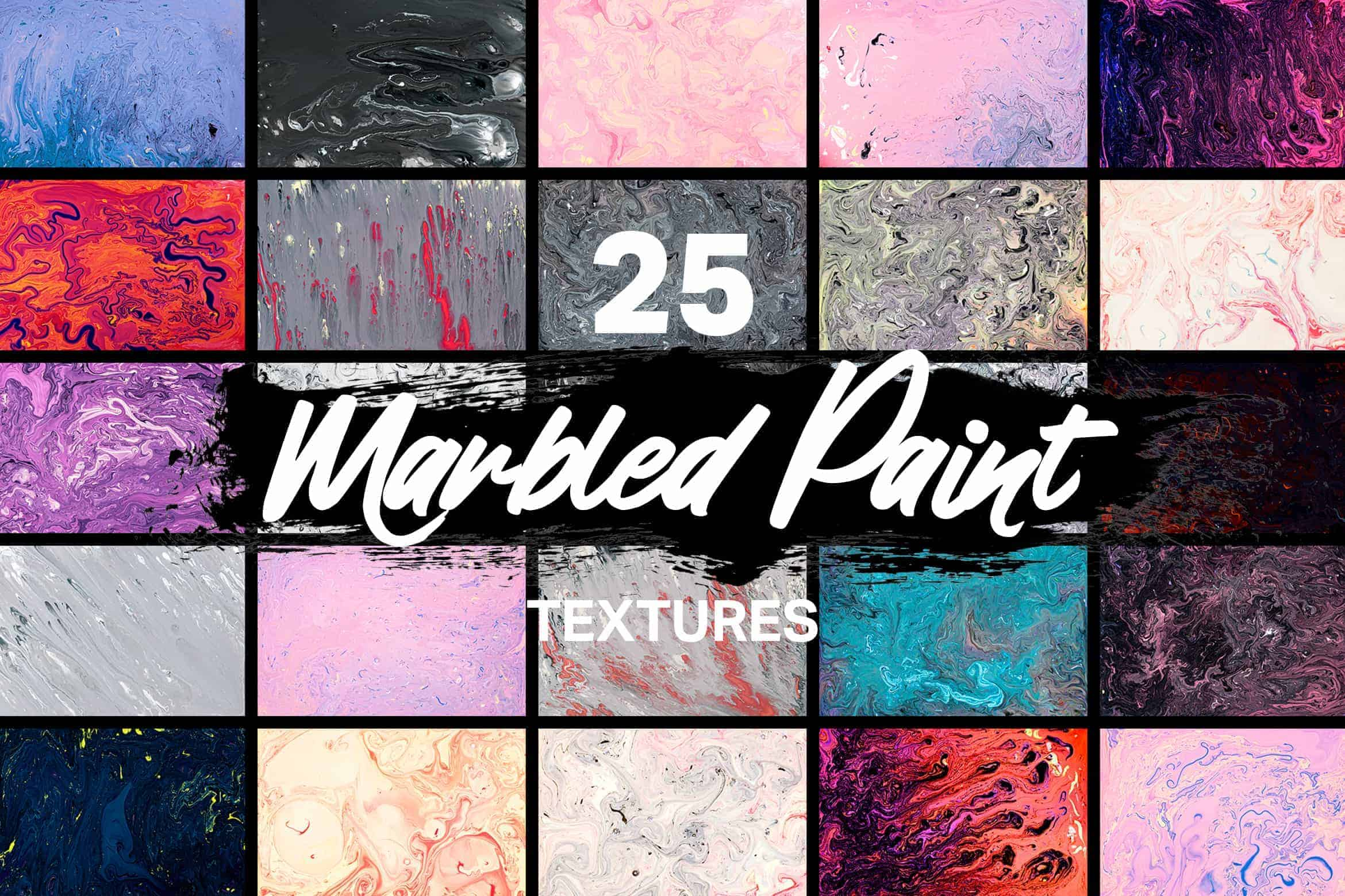 5 Free Marbled Paint Textures