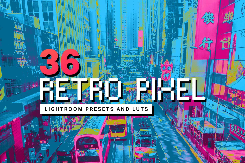 5 Retro Pixel Lightroom Mobile and Desktop Presets
