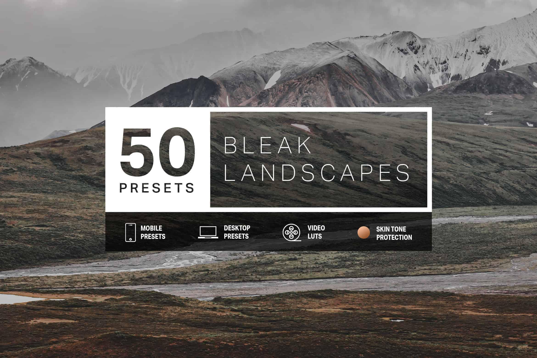 Free Download: 10 Bleak Landscape Lightroom Desktop & Mobile Presets