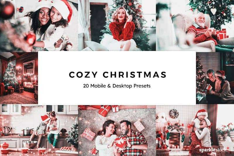 Free: 8 Cozy Christmas Lightroom Presets and LUTs