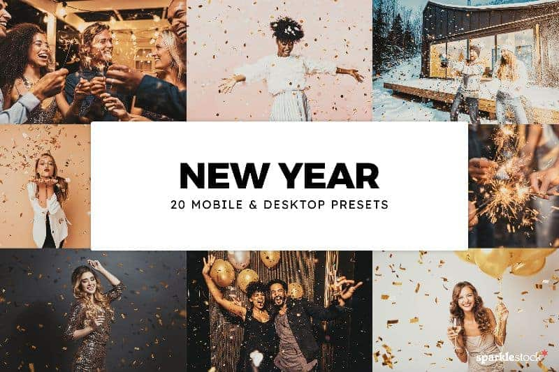 Free: 8 New Year Lightroom Presets and LUTs
