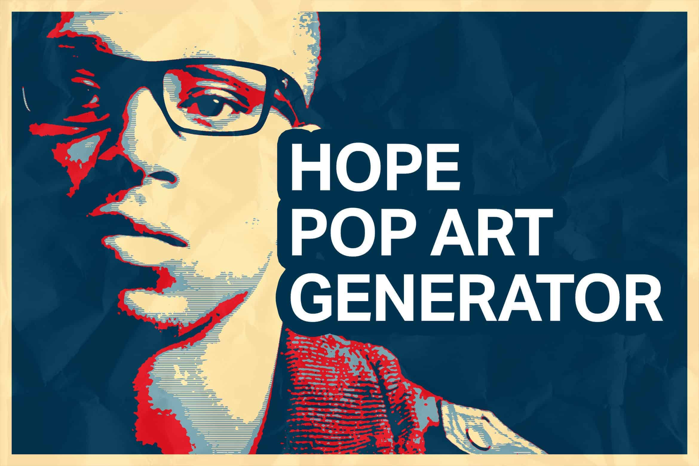 Hope Poster Generator for Photoshop