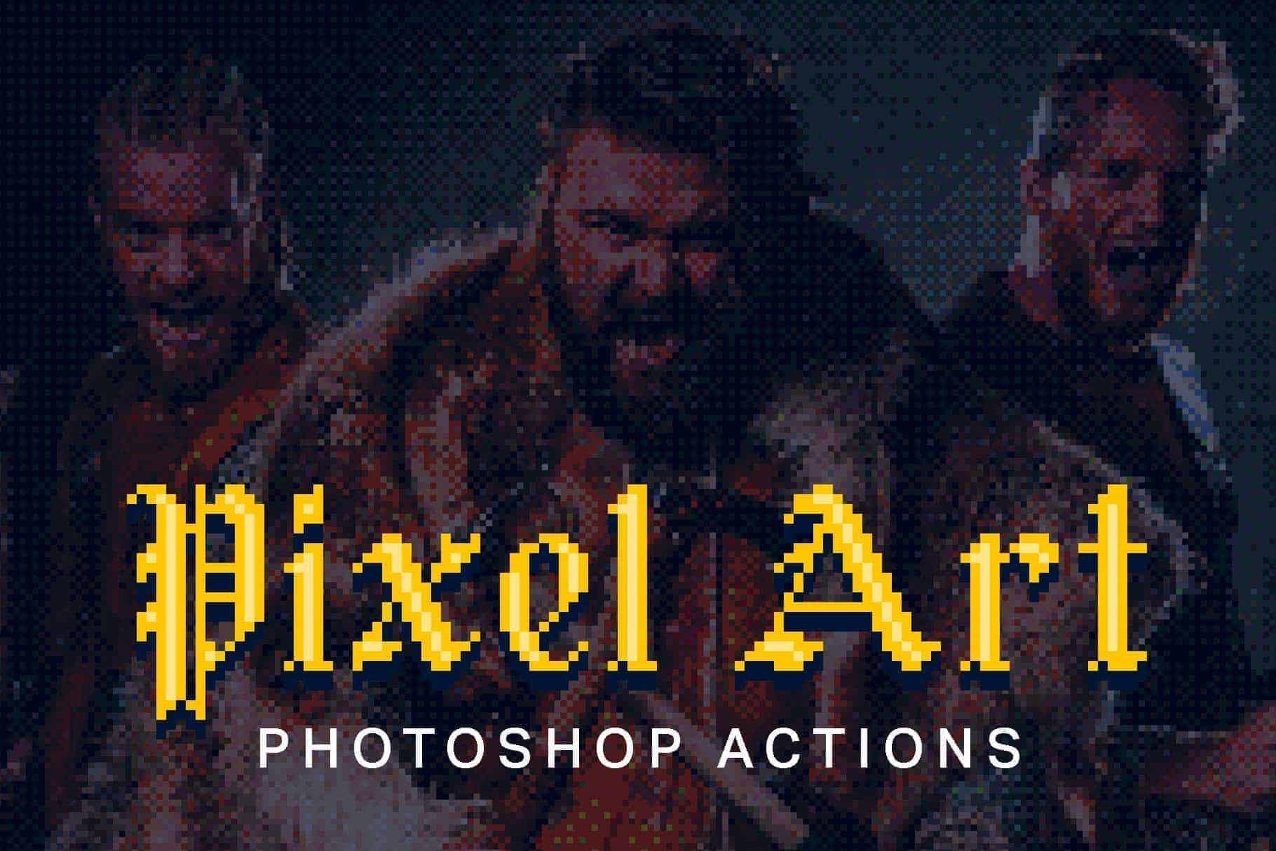These Photoshop Actions Convert Photos into Pixel Art