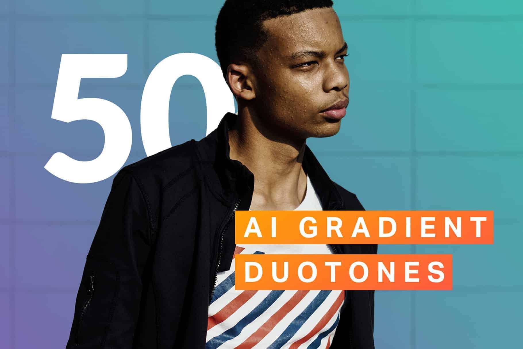 8 Free Gradient Duotone Photoshop Actions