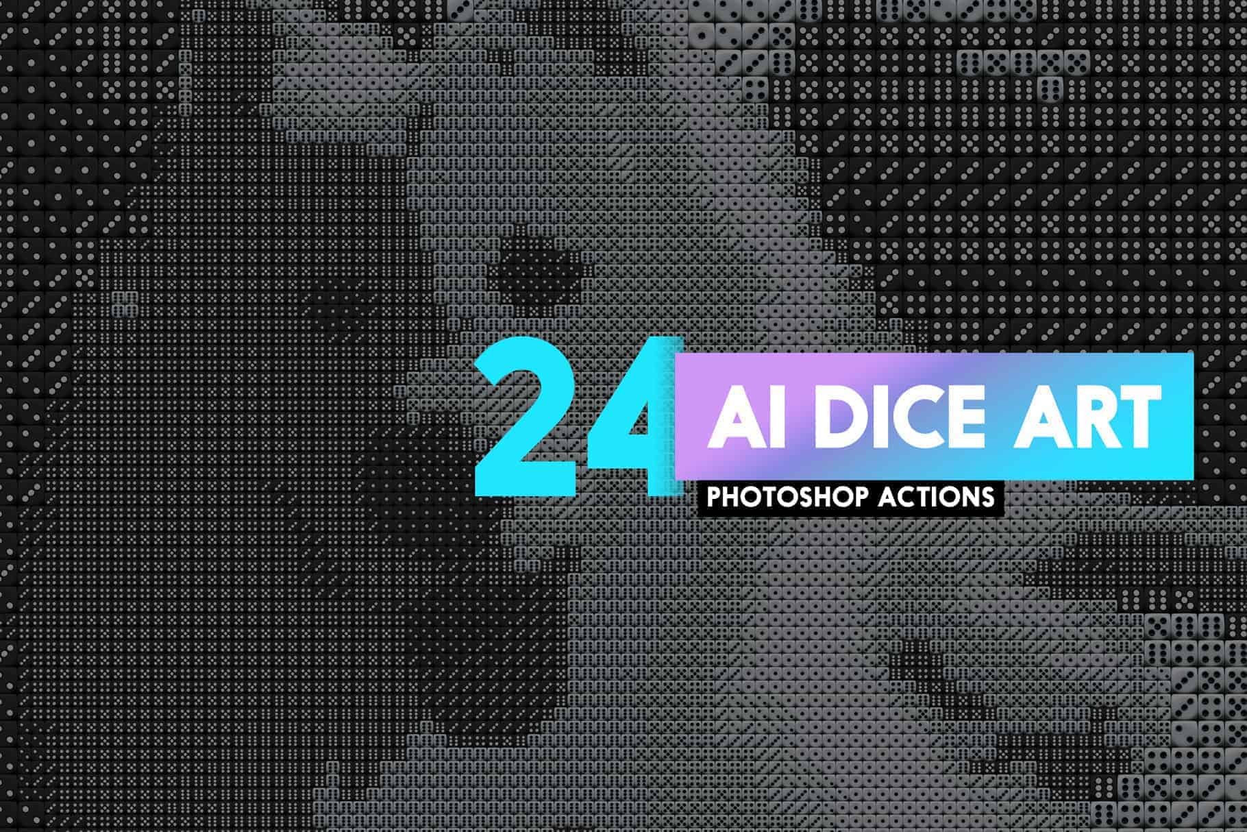 Create Art Made From Thousands of Dice with 4 Free Photoshop Actions